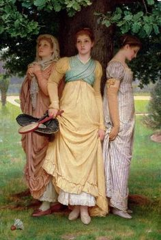 Charles Edward Perugini, A Summer Shower, 1888