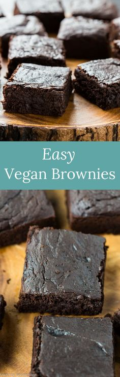 Easy Vegan Brownies made with avocado, coconut sugar, coconut milk, and coconut oil. This brownie recipe will completely blow you away. via @introvertbaker