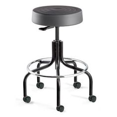 Elegant Backless Stool with Wheels