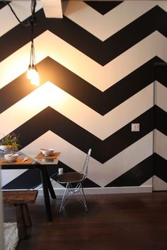 Chevron wall.