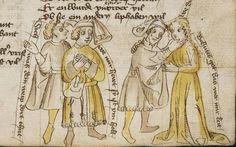 Thomasin <Circlaere>   Welscher Gast (b) Nordbayern (Eichstätt?), um 1420 Cod. Pal. germ. 330 Folio 34r
