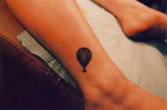 My first tattoo. It's a hot air balloon with an anchor. em My Photos por