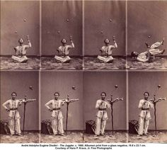 The Juggler, c. 1860. Albumen print from a glass negative. Photo by André Adolphe Eugène Disdéri