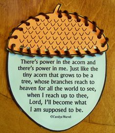 Have the kids sew around the acorn as you talk about what they may like to be when they grow up! - Use with story of the oak inside the acorn