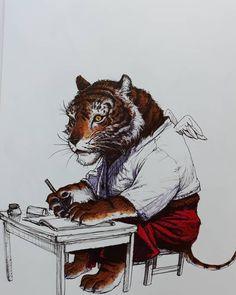 "Frederic Van Geeteruyen on Instagram: ""Superani artist kim Jung Gi @kimjung_gi please share,like and tag! caurette.com kimjunggi.net kimjunggius.com www.kimjunggi.cn…"" Kim Jung, Work Inspiration, Drawing Ideas, Painting & Drawing, Organizing, Character Design, Study, Paintings, Illustrations"