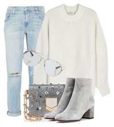 """""""DailyWear"""" by monmondefou ❤ liked on Polyvore featuring Current/Elliott, DKNY, Jimmy Choo, Gianvito Rossi and Christian Dior"""