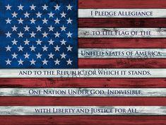 American Flag Art I Pledge Allegiance to the Flag by 1Art2Art