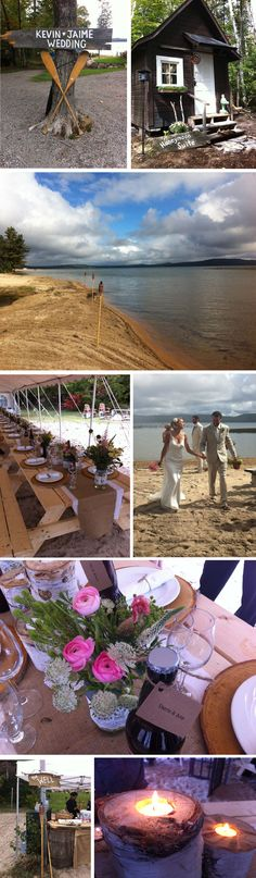 gorgeous cottage beach wedding