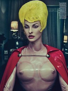 Steven Klein, photographer. Edward Enninful, Stylist. Jack Flanagan, Set Design. Via W Magazine.