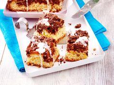 Kuchenwürfel mit Schokostreuseln Rezept