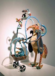 """Bill Reid, DISSED ANTS, BENT RULES AND DODOS, Painted Steel, 21x15x7"""""""