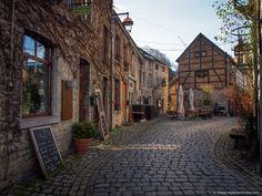 Beautiful street in Durbuy, Belgium