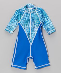 Look at this #zulilyfind! Turquoise Seaglass One-Piece Rashguard - Infant by Coolies #zulilyfinds