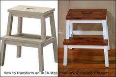 Transforming an ikea step stool oberfläche ikea und
