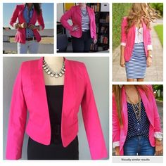NWOT Pop of Color  Barbie Pink Blazer Chic Barbie Pink Fully Lined Cropped Blazer w/pockets  NWOT Worthington Petite Small. (Full outfit in my closet) ✅ will bundle  ✅ all reasonable offers will be considered  ✅ No Trading  Poshmark rules only‼️ ♦️ Measurements taken laying flat                            Ⓜ️ back (shoulder to shoulder) 13                                                                                  Ⓜ️across back 18  Ⓜ️length 18      Ⓜsleeves 23 Worthington Jackets & Coats…