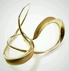 VINTAGE MICHAEL GOOD 18K 750 Solid Yellow Gold Modernist Earrings in Jewelry & Watches, Fine Jewelry, Fine Earrings | eBay