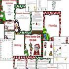 This product includes:  4 days of read aloud ideas and model and practice activities.   Balanced Literacy Activities:  Phonemic Awareness: Beginning Sounds, syllables, segmenting and blending  Phonics: Labeling Christmas graphics, letter activities, and chunks (at, et, it, ot, ut)  Writing: Santa Letters, Santa is...(character trait from read aloud), Christmas Wishes  Sight Word Reader: I like Snow