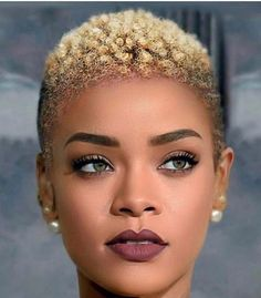 Short Bleached Hair For Black Women Short Tinted Hairstyles For