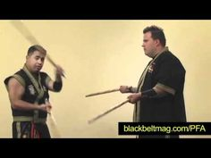 Julius Melegrito: Training Drill for Two Filipino Fighting Sticks - YouTube
