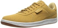 PUMA Men's G. Vilas Leather Interest Fashion Sneaker, Puma White/Croissant, 11 M US ** Check this awesome product by going to the link at the image.
