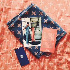 Block Shop Textiles SO GOOD Brand Identity, Branding, Coral Navy, Traditional Fabric, Like A Boss, 2 Colours, Packaging Design, Indigo, Fashion Photography
