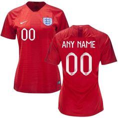 3b6270d3b ENGLAND WOMEN S 2018-2019 Away Football Custom Jersey -Red Best Quality