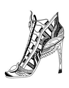 212 Best Shoes Coloring Pages for Adults images in 2019