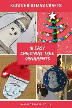 We've got all sorts of brilliant Christmas tree ornament crafts for kids to get busy with at home. Kids Make Christmas Ornaments, Homemade Christmas Tree Decorations, Christmas Activities For Kids, Winter Crafts For Kids, Simple Christmas, Christmas Diy, Preschool Activities, Christmas Planning, Daisies