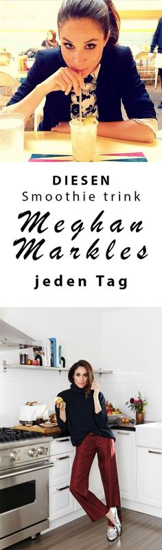 Wer träumt nicht davon, so perfekt zu sein wie die frisch vermählte Prinzessin Meghan Markle? Die gebürtige Kalifornierin ist bekannt für ihren Wellness Lifestyle... DAS ist das Rezept für Meghan Markle's geheimen Beauty Drink: Meghan Markle trinkt jeden Tag einen Smoothie aus... Meghan Markle Beauty Tipps... #meghanmarkle #beautytipps #beautyhacks