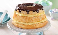Take JELL-O to another level with our Easy Layered Boston Cream Pie recipe. Our desserts are easy to make and hard to resist. View the recipe now at http://www.jello.com/recipe/easy-layered-boston-cream-pie?utm_source=share-pinterest&utm_medium=social&utm_campaign=share-clickback-landing.