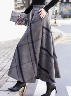 Buy Skirts, Online Shop, Women's Fashion Skirts for Sale - Floryday Modest Fashion, Women's Fashion Dresses, Hijab Fashion, Fashion Clothes, Long Skirt Fashion, Apostolic Fashion, Feminine Fashion, Winter Skirt, Winter Maxi Skirts