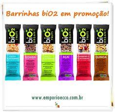 Barrinhas de Cereais Orgânicas biO2 em promoção no Empório Ecco! E tem mais: são Sem Glúten e Sem Lactose! Garanta já a sua!