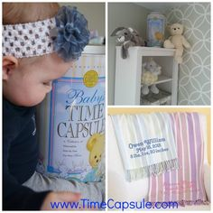 Newborn Baby Gift Ideas with decorative Baby Time Capsule from www.timecapsule.com