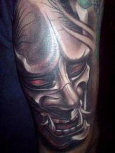 Awesome hannya mask tattoo