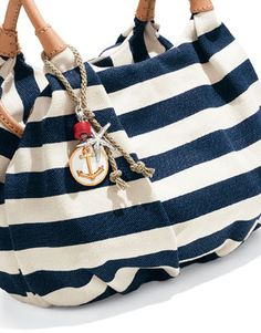 Love the nautical launch, simple yet pretty Brighton Bags, Brighton Jewelry, Nautical Looks, Nautical Theme, Cute Purses, Purses And Bags, Nautical Fashion, Purse Wallet, Cosmetic Bag