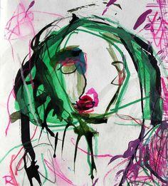 Sin título. Tinta - acuarela. 17 x 15 cm. 2006. Autor: Jorge Rando.