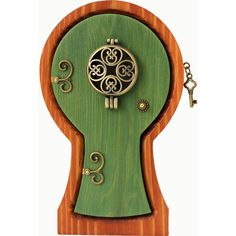 Keyhole Portal Locket Fairy Door for your Home and Garden ($36) ❤ liked on Polyvore featuring home, outdoors, outdoor decor, garden decor, outdoor garden decor, door knobs, door knob handle and garden patio decor
