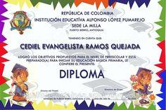 Diplomas preescolar para imprimir - Imagui