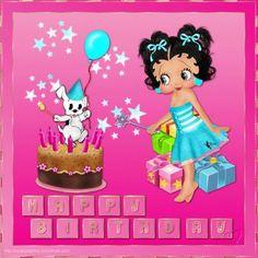 Imágenes de Cumpleaños | Tarjetas con Frases Lindas para Dedicar - ツ Imagenes y Tarjetas para Felicitar en Cumpleaños ツ Minnie Mouse, Happy Birthday, Disney Characters, Pink, Anime, Women's Fashion, Ideas, Happy Birthday Cards, Birthday Cards