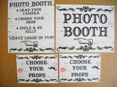 Photo booth sign... love the idea, something very different!