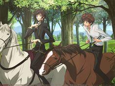 code geass kururugi suzaku lamperouge lelouch horseback riding 1024x768 wallpaper