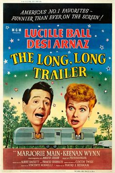 "Movie Poster for ""The Long, Long Trailer"" by Lucy_Fan, via Flickr"