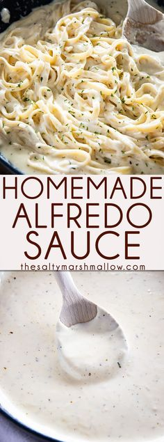 Best Homemade Alfredo Sauce is rich, creamy, and packed with garlic parmesan flavor! This Alfredo Sauce is easy to make and perfect with your favorite pasta! alfredo sauce with half and half Best Homemade Alfredo Sauce Salsa Alfredo Receta, Molho Alfredo, Sauce Alfredo, Fettucine Alfredo, Pasta Alfredo, Best Alfredo Sauce Recipe, Italian Alfredo Recipe, Alfredo Saice Recipe, Gluten Free Alfredo Sauce