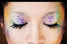 Paint Splatter Eyes...I love this for maybe clubbing, or photos.