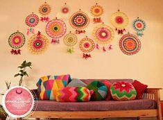 Crochet Mandala, Dorm Decorations, Home Decor, Houses, Mandalas, Blue Prints, Decoration Home, Room Decor, Home Interior Design