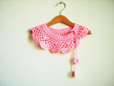 Bamboo Collar Necklace  crochet Peter Pan Collar by NMNHANDMADE, $29.00