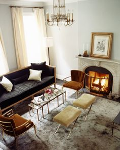 Billy Joel's former West Village living room by Paul Costello