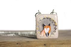 Only One Available one of a kind Floral Rimed Fox by iamabird, $45.00