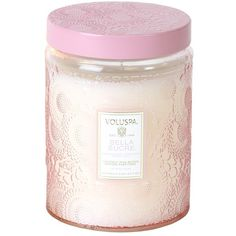 Voluspa 'Japonica - Bella Sucre' Large Embossed Jar Candle (1.850 RUB) ❤ liked on Polyvore featuring home, home decor, candles & candleholders, candles, fillers, items, fragrance candles, japanese home decor, voluspa candles and floral scented candles