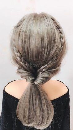 Simple student Hairstyles idea Little Girl Hairstyles Side Ponytail Hairstyles, Easy Hairstyles For Medium Hair, Easy Hairstyles For Long Hair, Casual Hairstyles, Easy Wedding Hairstyles, Braided Hairstyles For Long Hair, Cool Hairstyles For School, Easy Little Girl Hairstyles, Office Hairstyles